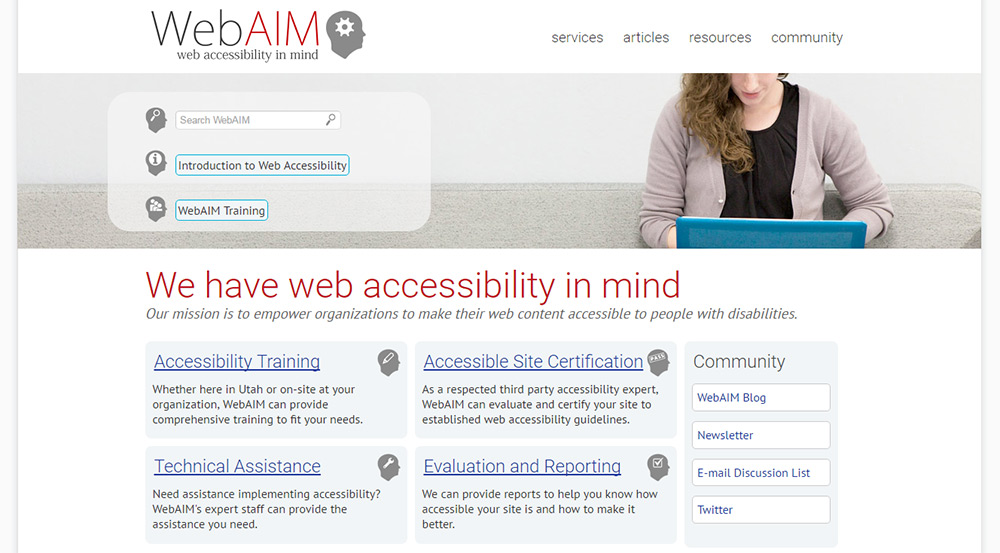 webaim accessibility website